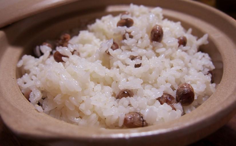 炒り豆ご飯